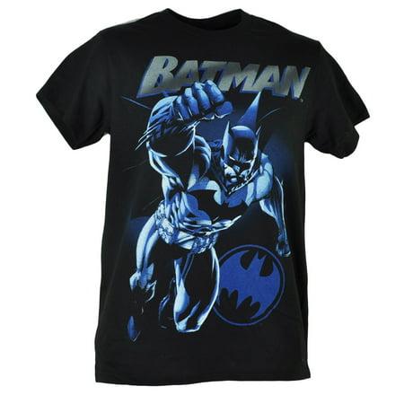 DC Comics Batman Dark Knight Power Up Pose Black Graphic Hero Tshirt Tee XLarge (Hero Black Shirt)