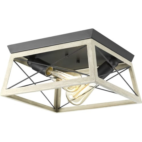 "Progress Lighting P350039 Briarwood 2 Light 12"" Wide Flush Mount Ceiling Fixture"