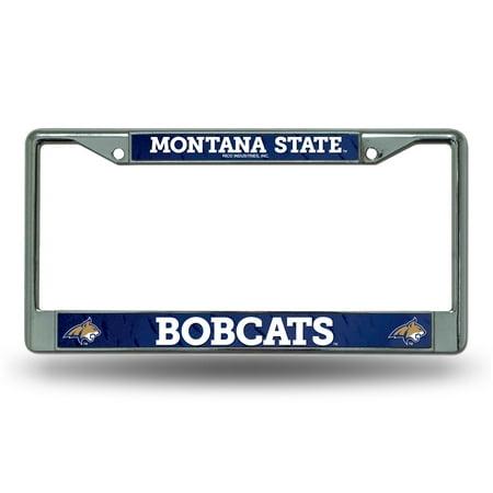 Montana State Bobcats NCAA Chrome Metal License Plate (State Metal License Plate)