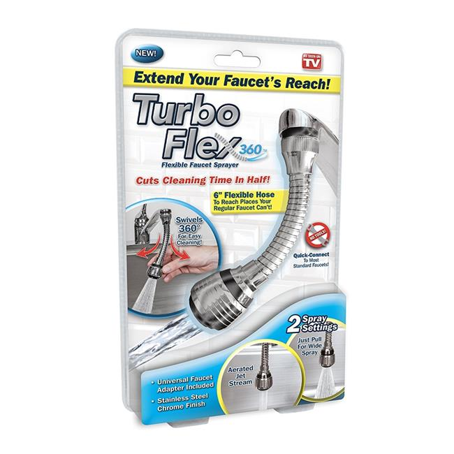 Trendstar TF-CD6 Turbo Flex 360 Swivel Spray Faucet Sink Hose