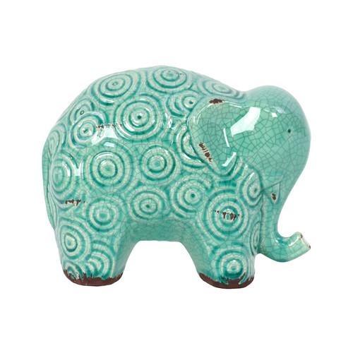 Urban Trends Stoneware Elephant Figurine