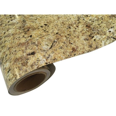 Instant Granite Venetian Gold Santa Cecilia Counter Top Film 36 X 216 Self Adhesive