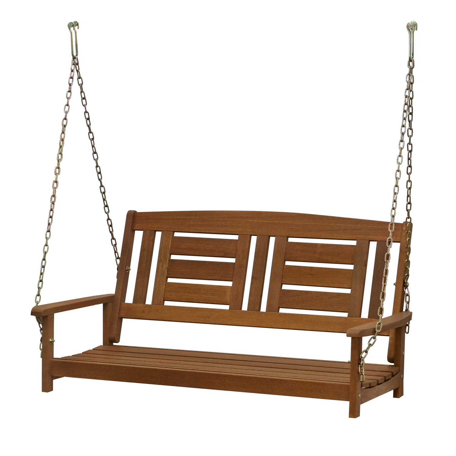 Furinno Tioman Hardwood Hanging Porch Swing with Chain, FG16409SC by Furinno