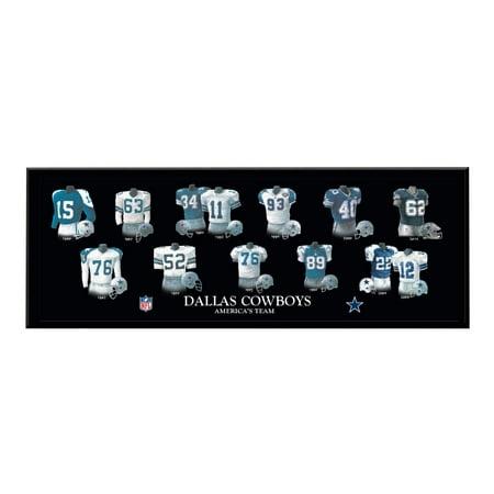 Dallas Cowboys Plaque (Winning Streak - NFL Uniform Plaque, Dallas Cowboys)