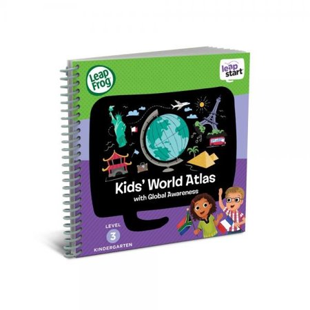 LeapFrog LeapStart Kindergarten Activity Book: Kids' World Atlas and Global (Kiss Frogs)