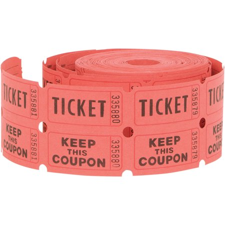 Horizontal Ticket (Double Roll Raffle Tickets, Assorted,)