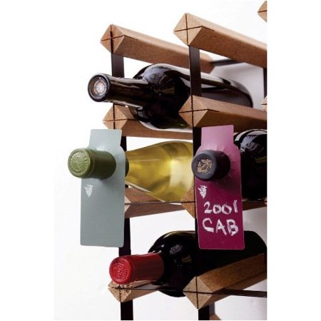 Two-Sided Green and Burgundy Wine Chalkboard Bottle Tags, Set of 40 ()