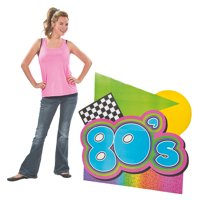 Fun Express - Awesome 80s Stand up for Party - Party Decor - Large Decor - Misc Large Decor - Party - 1 Piece
