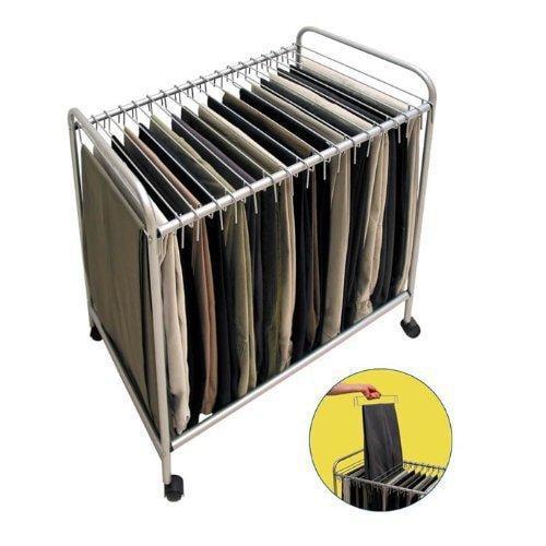 Storage Dynamics 28'' H x 15.75'' W x 25.4'' D Rolling Pants Trolley