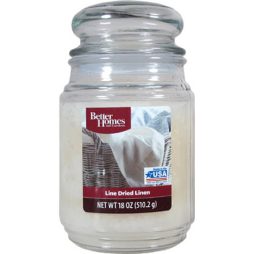 Better Homes and Gardens 18-Ounce Scented Candle, Line-Dried Linen