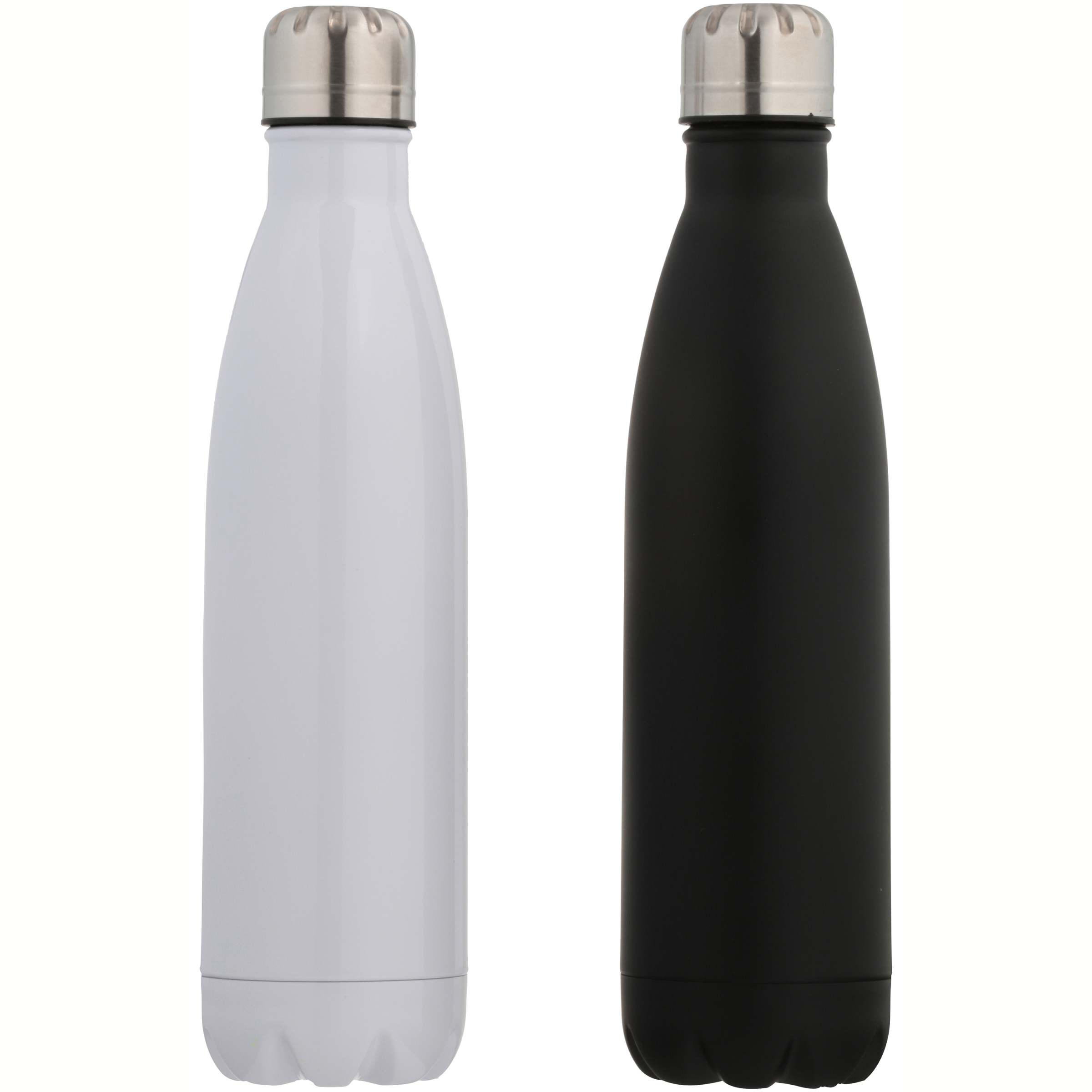 Mainstays™ Double Wall Vacuum Black/White 17 oz. Sports Bottle 2 ct Box
