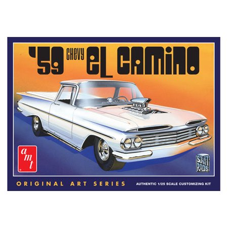 AMT 1058 1/25 1959 Chevy El Camino Original Art (Chevy Original Design)
