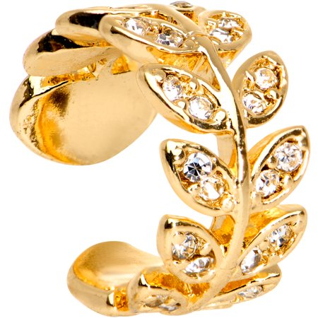 Body Candy Gold Tone Plated Brass Crown of Leaves Adjustable Ear -