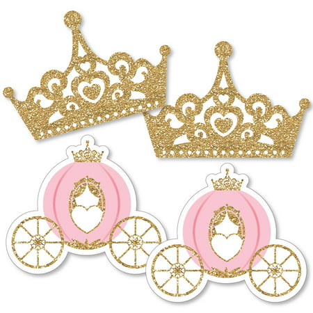 Crown Carriage - Little Princess Crown - Tiara & Carriage Decorations DIYBaby Shower or Birthday Party Essentials - Set of 20