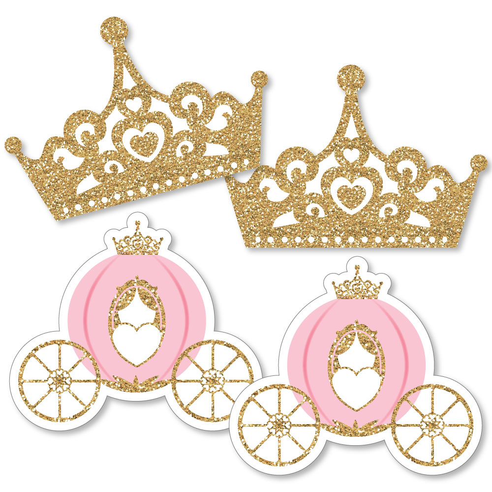 Little Princess Crown - Tiara & Carriage Decorations DIYBaby Shower or Birthday Party Essentials - Set of 20
