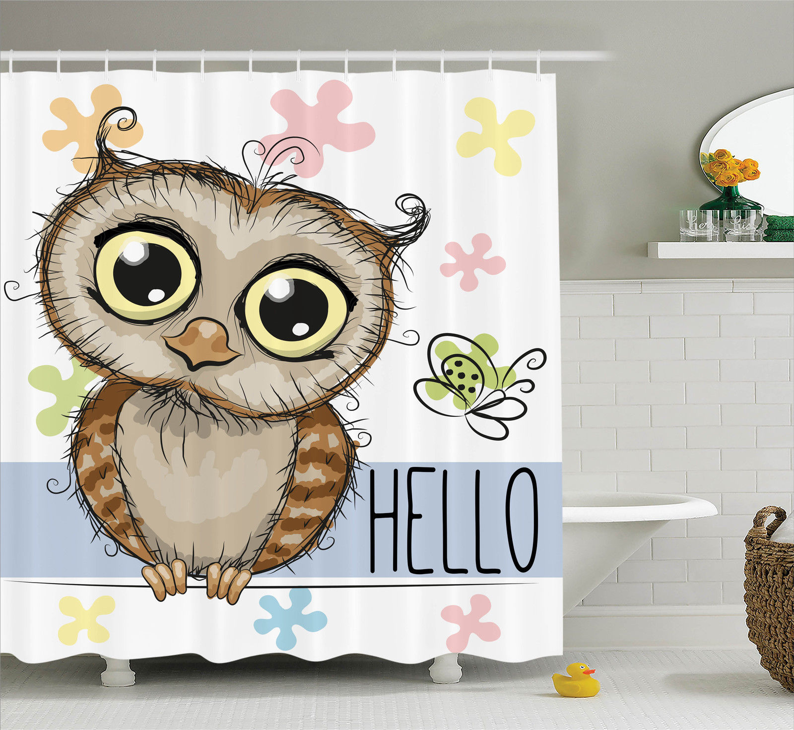 owl home decor accessories owls home decor owl and a butterfly on a floral 11686