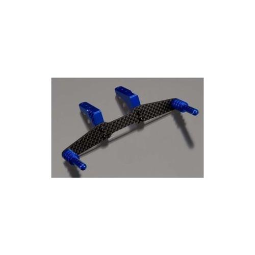 Integy RC Toy Model Hop-ups T8671BLUE Machined Rear Body Mount Set for 1 10 Traxxas Slash... by Integy