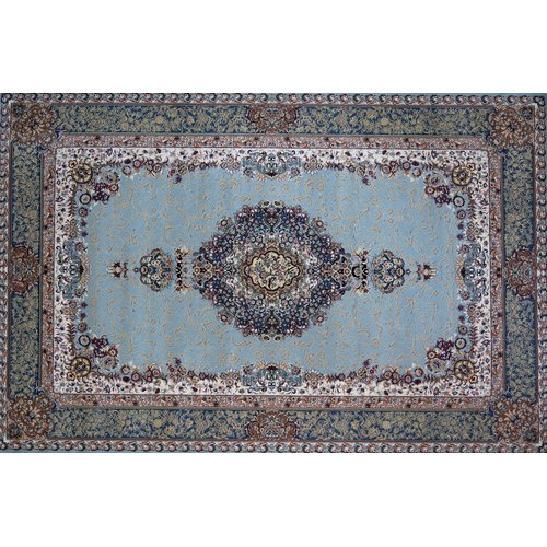 Astoria Grand Mcmillen Hand Look Persian Wool Blue Ivory Red Area Rug Walmart Com Walmart Com