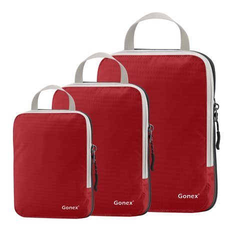 Gonex Packing Cubes, Travel Packing Organizers Luggage Compression Bags Pouches 9 Colors (Clark Packing Cube)