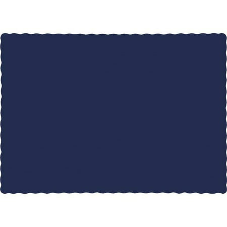 "Touch of Color Placemats, 9.5"" x 13.375"", Navy, 50 Ct"