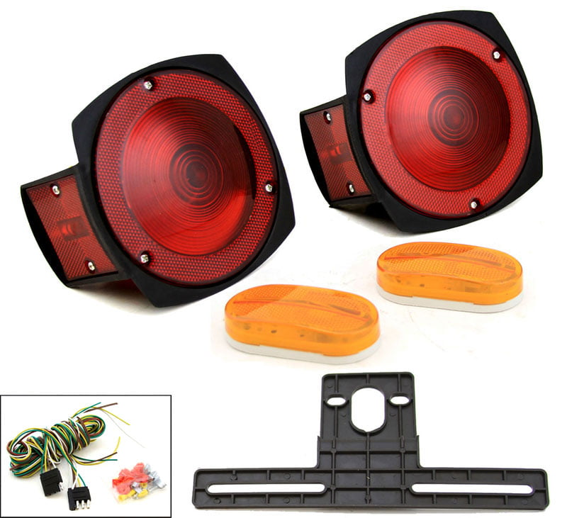 12V Complete Multi-Function Towing Trailer Light Kit by STKUSA