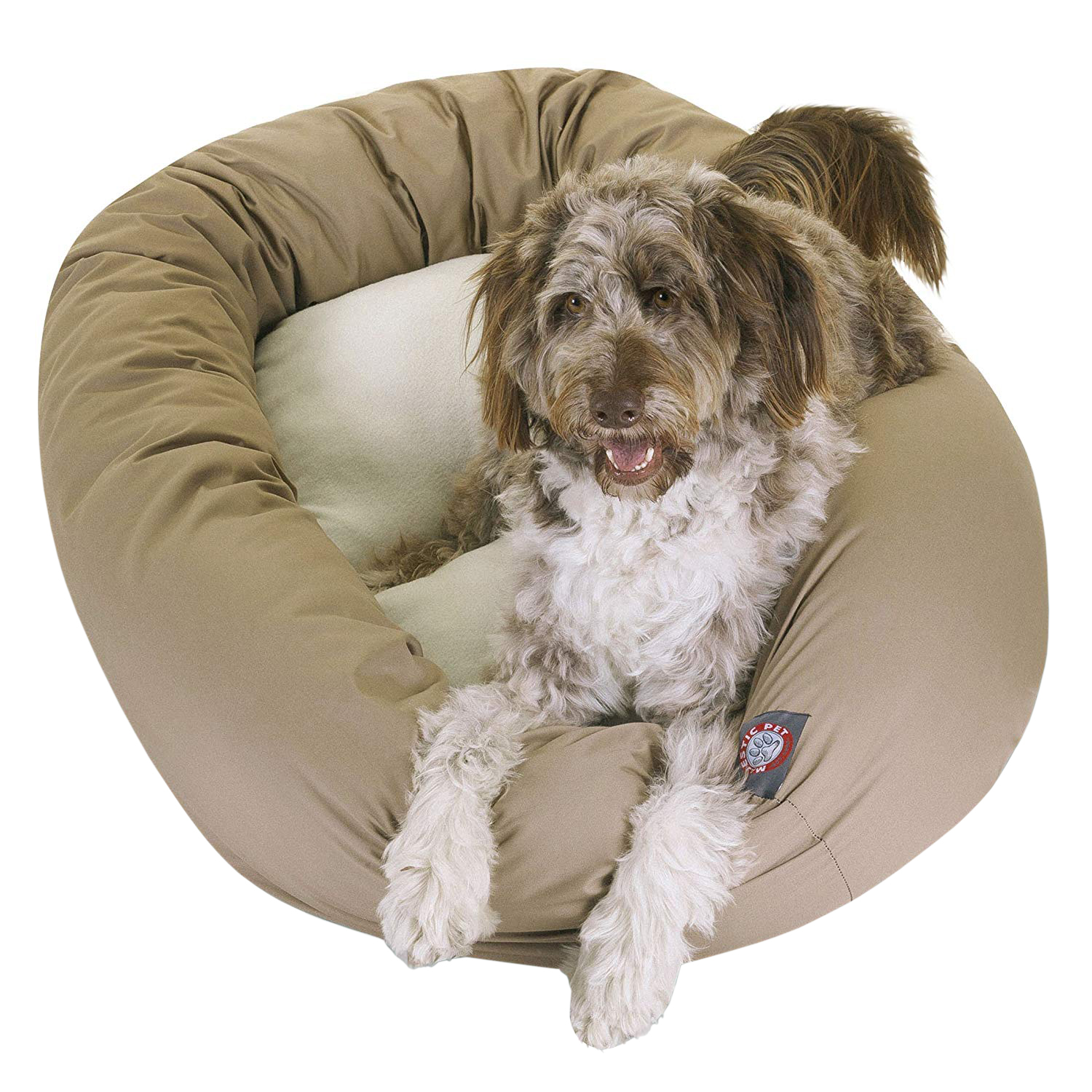 Majestic Pet Poly/Cotton & Sherpa Bagel Dog Bed