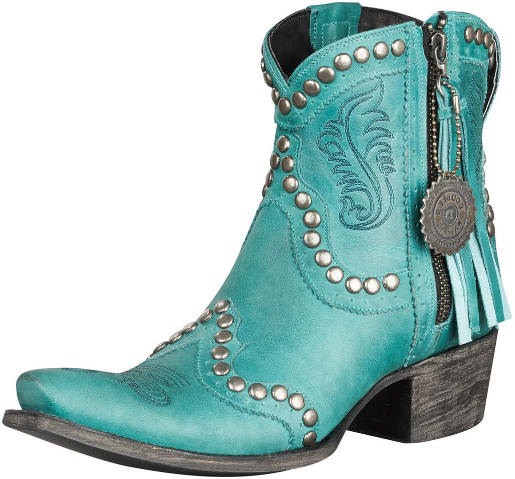 Lane Western Boots Womens Double D Ranch Garcitas Turq DD9010D