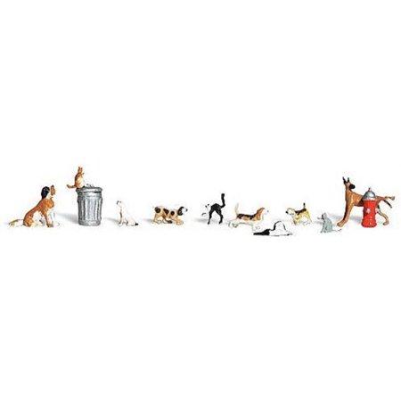 WOODLAND SCENICS A1841 Dogs & Cats HO WOOU9141