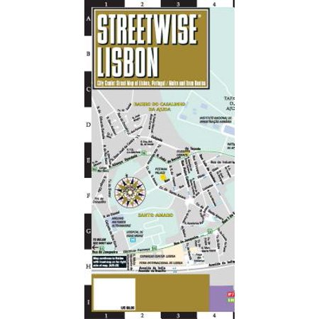 Streetwise lisbon map - laminated city center street map of lisbon, portugal: - Portugal Digital Map