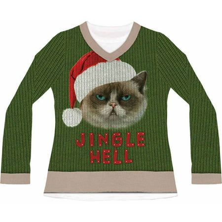Jingle Hell Cat Ugly Christmas Men's Adult Halloween Costume - Creative And Cheap Halloween Costumes