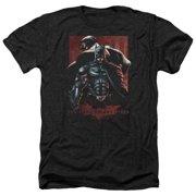 Dark Knight Rises Batman & Bane Mens Heather Shirt