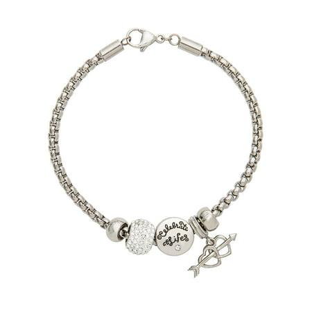 Carolee Set Bracelet - Connections from Hallmark Stainless Steel Love Charm Bracelet Set