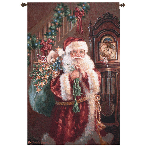 Manual Woodworkers & Weavers Santa Not a Creature Tapestry