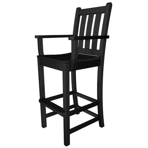 POLYWOOD Traditional 30'' Patio Bar Stool