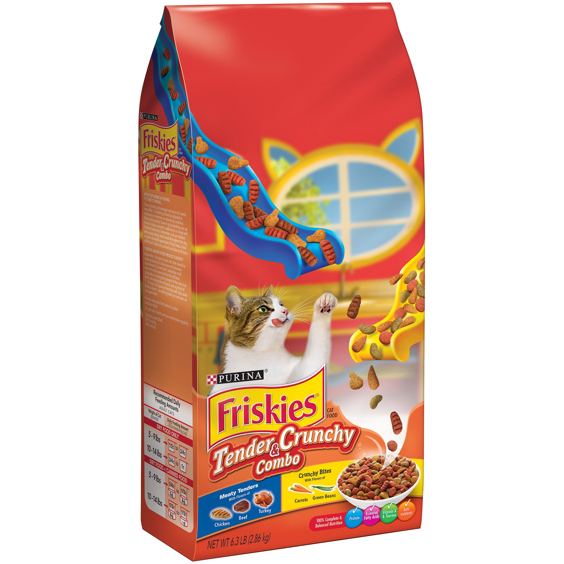 Purina Friskies Tender & Crunchy Combo Dry Cat Food, 6.3 lb