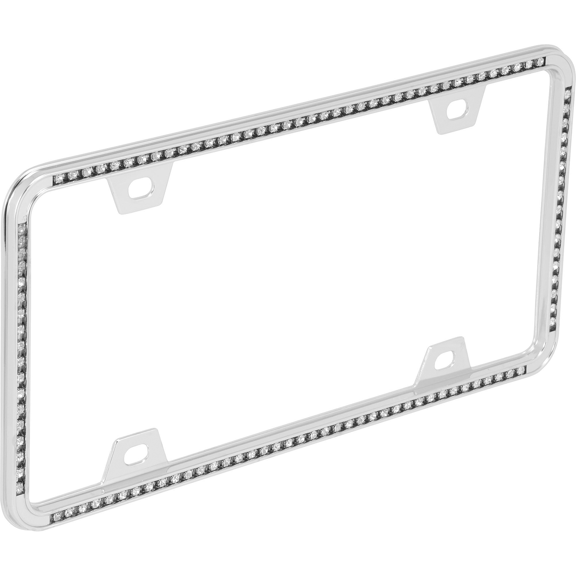 auto drive diamonds license plate frame chrome walmartcom