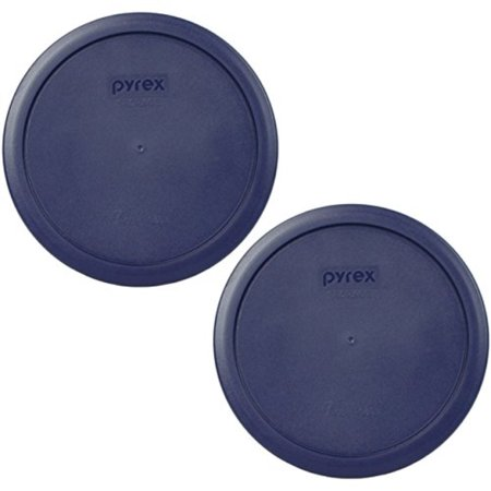 PYREX Blue Plastic Cover fits 6 & 7 cup Round Dishes (2 Lids) - Plastic Trifle Dish