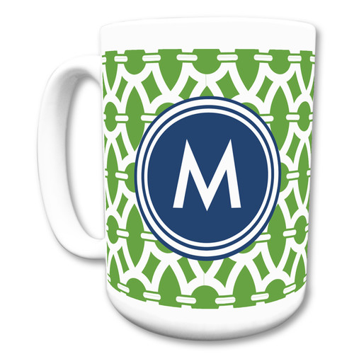 Whitney English Trellis Single Initial Mug