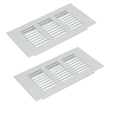 150mmx80mm en alliage aluminium a rateur grille de ventilation grille persiennes 2pcs - Grille de ventilation aluminium ...