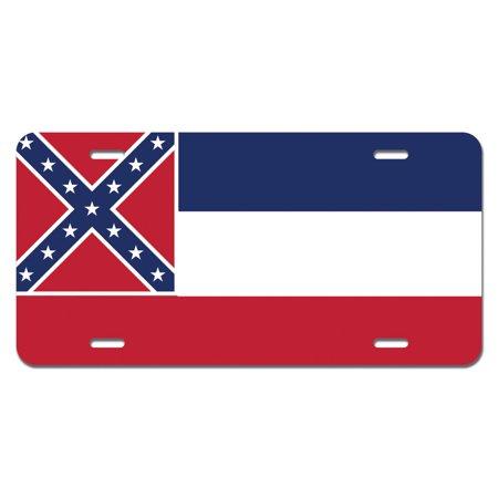 Mississippi State Flag Novelty License Plate