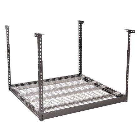 (Costway 4'x4' Heavy Duty Overhead Garage Ceiling Storage Height Adjustable Hanging Rack)