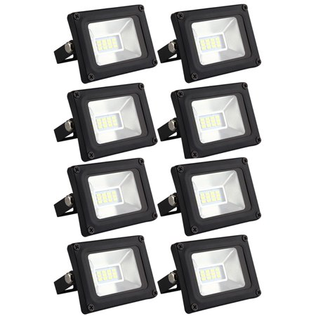 8 Pack 10W LED SMD Flood Light- Waterproof IP65 for outdoor,Cool White Spot lights Outdoor Lamp Security Lights for Garden