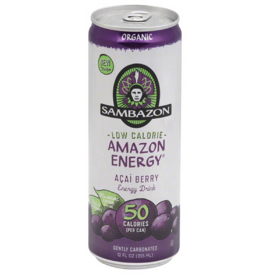 Samazon Amazon Energy Acai Berry Energy Drink, 12 fl oz, (Pack of 12)