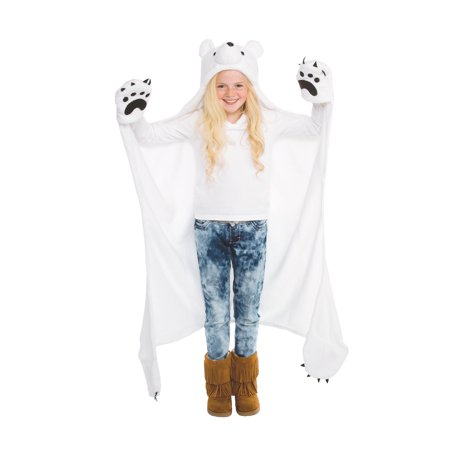 Wild Things Snowcap Polar Bear Blanket, Wearable Animal Blanket by Fin Fun ()