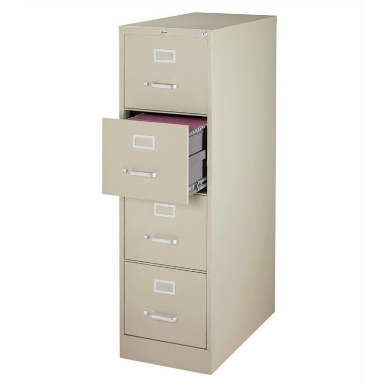 3000 Series 26.5-inch Deep 4-Drawer, Letter-Size Vertical File Cabinet, Putty