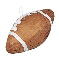 Football Pinata, Brown, 15.5 x 9in