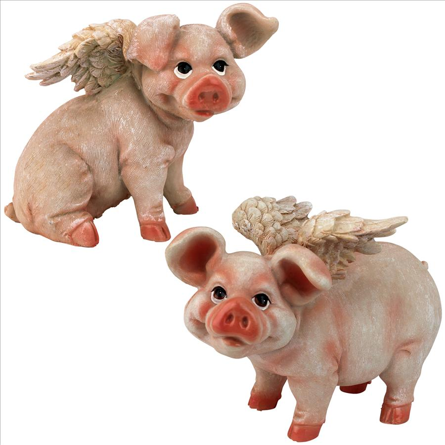 Design Toscano Hog Heaven Flying Pig: Set