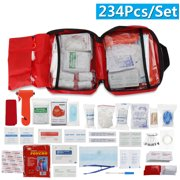 234 in 1 Fully Equipped Outdoor SOS Survival Equipment Kit First Aid Kit Bag Survival Gear Tool Emergency Tactical Supplies
