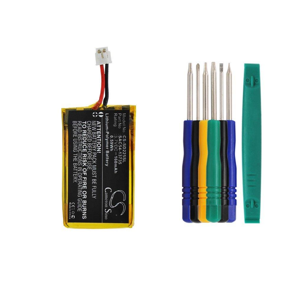 Cameron sino 160mAh Li_Polymer Battery SAC54_13735 Replacement For Sportdog SR_225 Receiver SR_225S SR_225W SportHunter 825 S