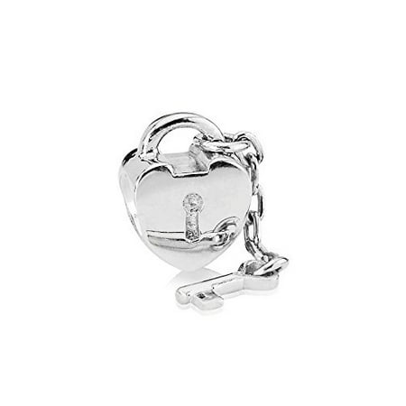 Buckets of Beads Heart Lock With Key Charm Beads Fits Most Major Charm Bracelets For Women Girls](Lock And Key Jewelry For Couples)